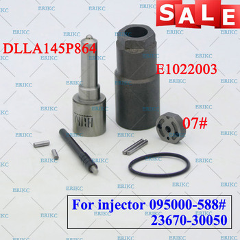 ERIKC 095000-5880 Diesel Injector Overhaul Repair Kits Fuel Nozzle DLLA145P864 Valve Plate 07# for Denso 23670-30050 23670-39095