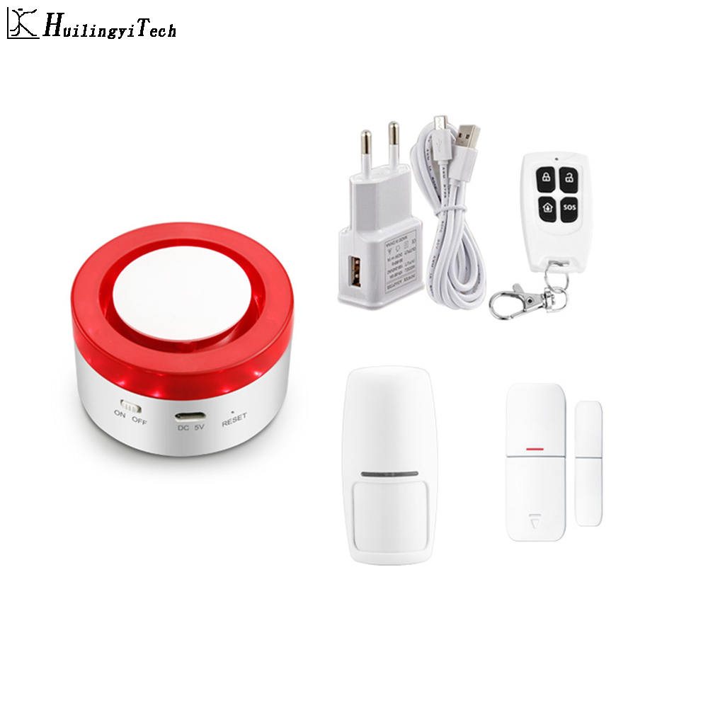 Tuya Smart Life Siren APP Control Alarm System Home Garage Motion Sensor Russia/English Voicatible Intelligent Wireless Camera