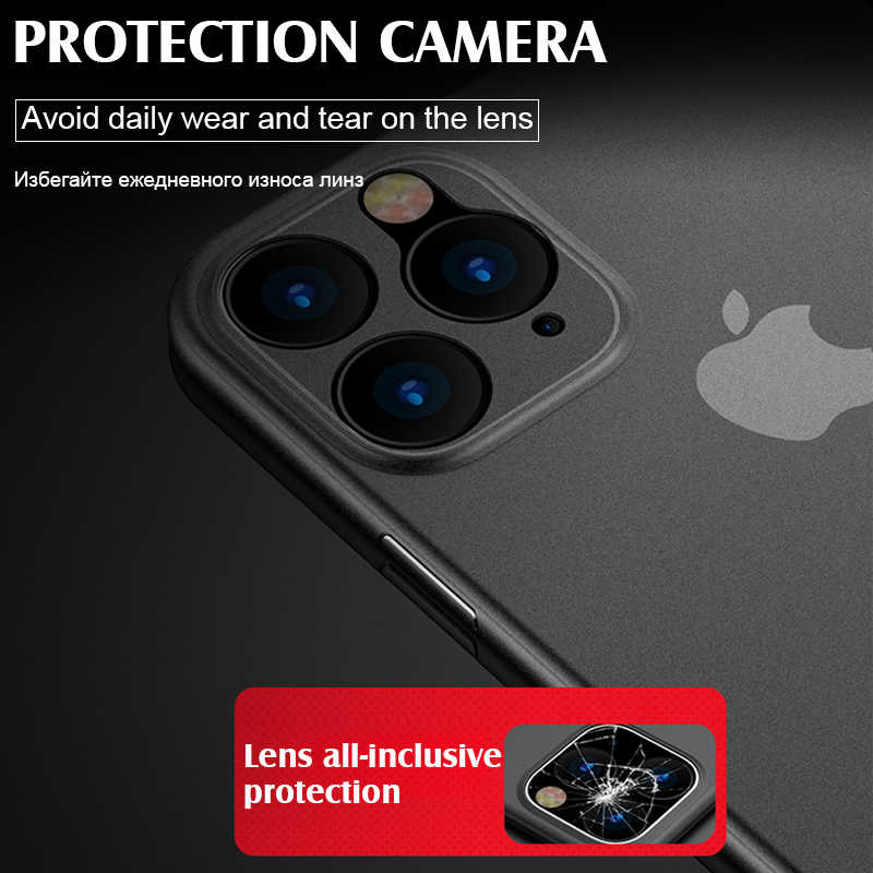 Luxe Shockproof 0.3 Mm Ultra Dunne Case Voor Iphone 11 Pro X Xs Xr Max Matte Tpu Cover Voor Iphone 8 7 6 6 S Plus Soft Case Cover
