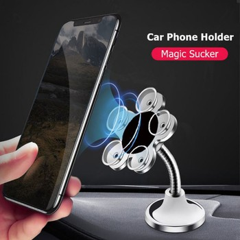 Hot Universal Mobile Car Phone Holder Stand Cell Sucker Holder 360 Degree Adjustable for iphone 7 plus 8 xs 11 Samsung Car Mount image