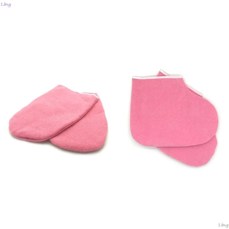 2pcs Paraffin Wax Protection SPA Hand Foot Gloves Warmer Heater L29k