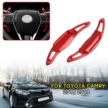 Car Steering Wheel Shift Red Paddle Shifter Extension Fits For TOYOTA CAMRY 2018 2019