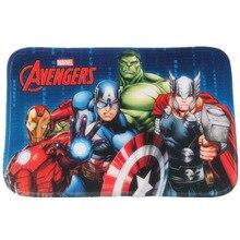 цены New Avengers Absorb Water Carpet Marvel Plush Toys Spiderman Iron Man Captain America Hulk Rug Flannel Gift for Kids B615