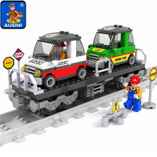 Model building kits compatible with train rails trafic 600 3D blocks Educational model building