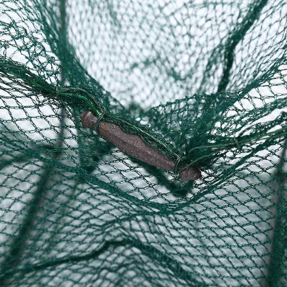 3.5m 11 intervalli di Anguilla Gamberetto Gambero Richiamo Reti Pieghevole di Nylon Rete Da Pesca Granchio Gamberi Lobster Catcher Trappola Dal Vivo di Pesce netto