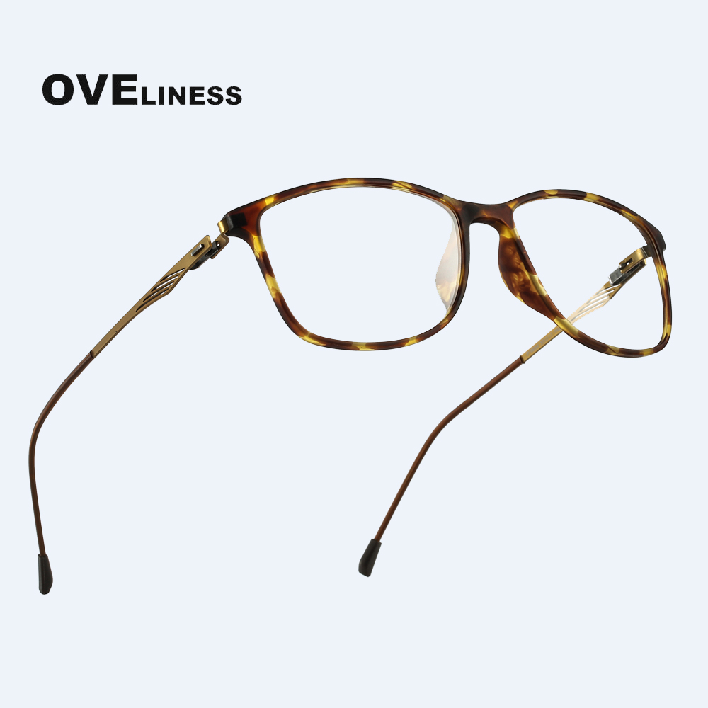 TR90 Alloy Glasses Frame Women Men Myopia Eye Glass Prescription Eyeglasses 2020 Korean Retro Screwless Optical Eyewear Frames