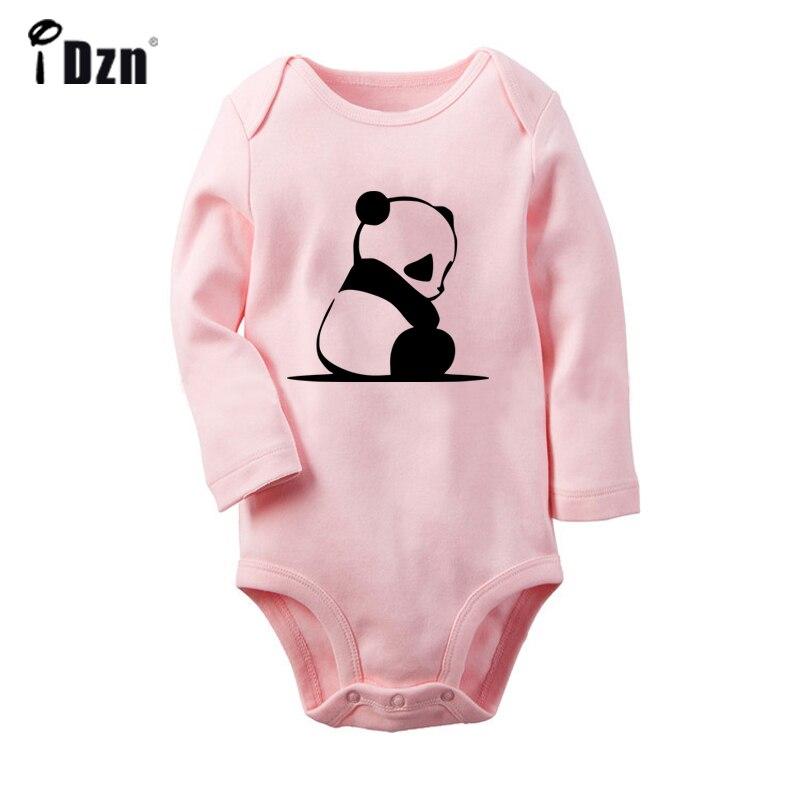 Cute Cartoon Panda Music Black Eyes Let's Get Lost Design Newborn Baby Bodysuit Toddler Onesies Jumpsuit Cotton Clothes Gift