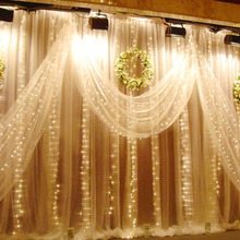 LED Fairy Curtain Light 1.5*1.5M Garlands Outdoor Holiday light Christmas Decorative Wedding String Lights Party Lamp Home Decor ac220v 6x3m 600led home outdoor holiday christmas decorative wedding xmas string fairy curtain garlands strip party lights
