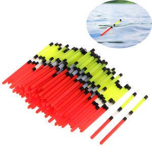 100Pcs Plastic Long Tail Vert Fishing Float Floating Stick Tube Sports Fishing Float Tube For Fishing Accessories