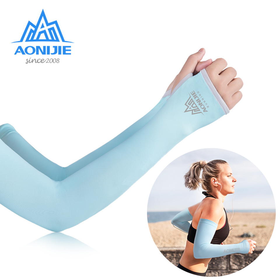 AONIJIE E4117 One Pair UV Sun Protection Cooling Arm Sleeve Cover Arm Cooler Warmer Trail Marathon Running Golf Cycling Driving