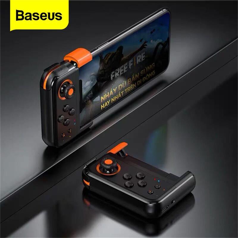 Gamepad Bluetooth Baseus para el controlador de juegos PUBG, Mando de juego inalámbrico para iPhone, Android, almohadilla de juego para teléfono móvil, Joypad