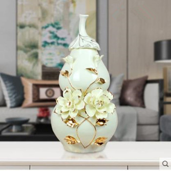 Beautiful ceramic gourd crafts, American style artwork, home office restaurant table decorations, wedding decoration gifts