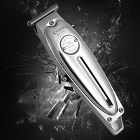Kemei 1949 tagliacapelli professionale per uomo in metallo tagliacapelli elettrico senza fili 0mm macchina per taglio di capelli con finitura a lama a T calcinata