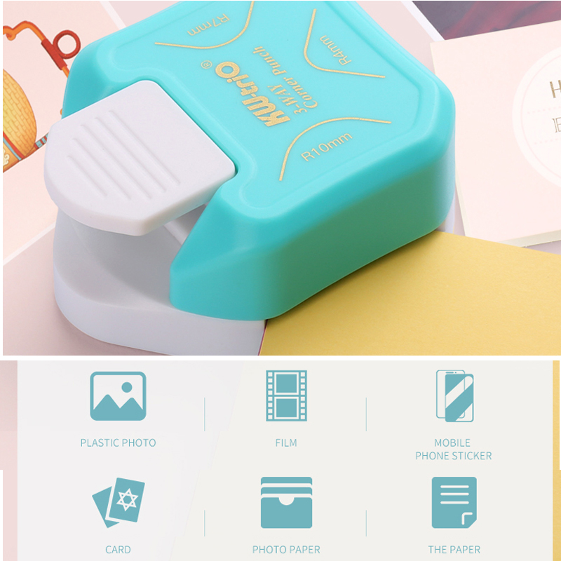 R4 R7 R10 3 In 1 Corner Rounder Paper Punches Border Punch Round Corner Paper Cutter Card Scrapbooking for DIY Handmade Crafts 2