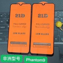 21D กาวเต็มกระจกนิรภัยสำหรับ Tecno Phantom 9 9H หน้าจอป้องกันหน้าจอฟิล์มสำหรับ Tecno Phantom 9