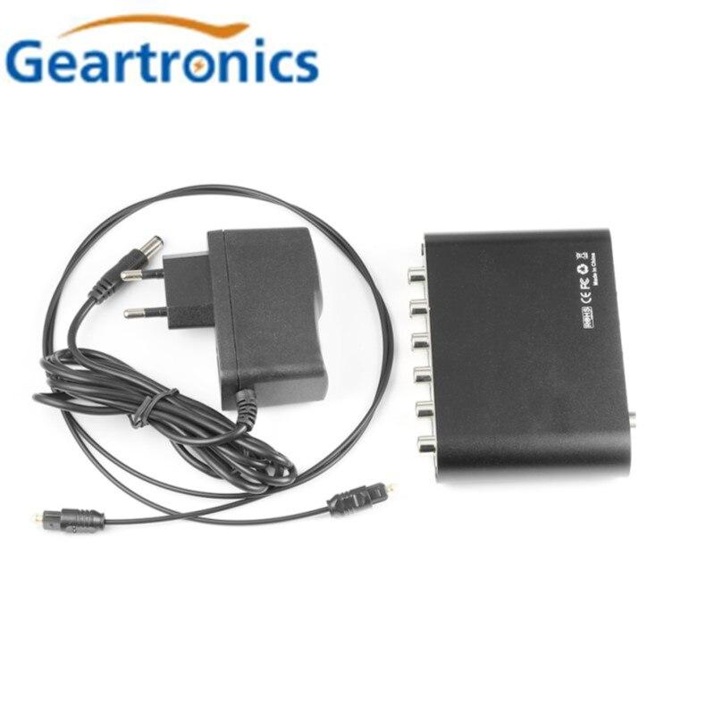 Digital 5.1 ue decodificador de áudio dolby dts/Ac-3 óptico para 5.1-canal rca conversor analógico áudio som adaptador amplificador conversor
