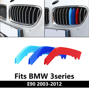 Car Grille Insert Trims For BMW E90 320i 2003-2008 2009-2012 3 series Accessories M 3 Sport Plastic Radiator Grills Strip Cover