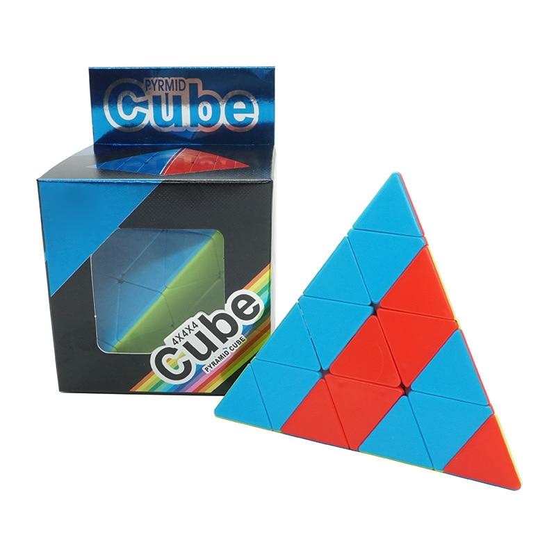 Newest Fanxin 4x4x4 Jinzita Magic Cube Triangle KiloPyramid Cube 4x4 Speed Puzzle Cube Educational Magico Cubo Toys Gifts