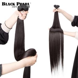 Image 2 - Black pearl 30 32 34 36  inch Bundles Peruvian Hair Weave Bundles 100% Straight Human Hair Bundles Remy Hair Extensions