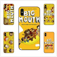 Big Mouth cartoon lovely phone case black soft cover for iPhone 11 Pro Max 6 7 8plus 5S X XS XR XSMax For Samsung s10 s9 series big max