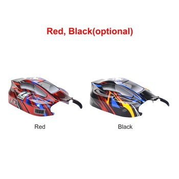 цена на RC On-road Car PVC Shell Body Cover for 1/8 ZD Racing 8459 RC Racing Car Accessories Parts Black/Red