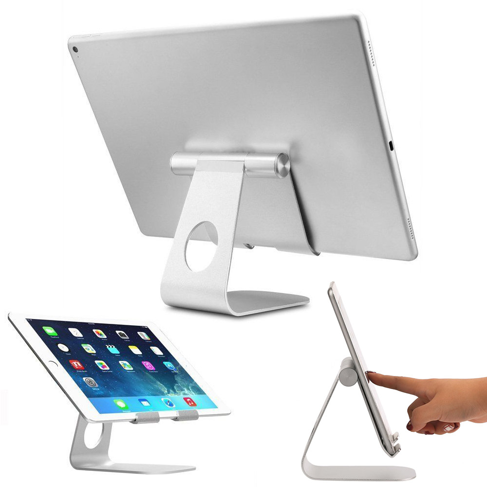 Universal Aluminum Tablet Stand Desktop Holder Mount For Cell Phone iPad iPhone
