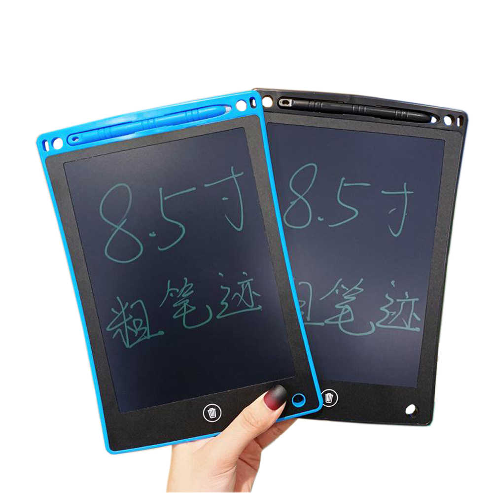8.5-inch LCD Writing Tablet Drawing Sketchpad Color : Black Supports One-Click Clear /& Local Erase,for Writing Pad /& Memo Board Kids Use