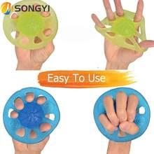 SONGYI Portable main doigt formateur Silicone pince force entraînement musculaire réadaptation poignée anneau Exercice Y120