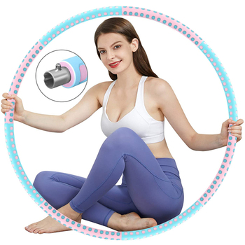 Weighted Hoop Fitness Yoga Waist Exercise Slimming Sport Hoop Massage Loop  Weight Loss Circle Bodybuilding Gym Equipment
