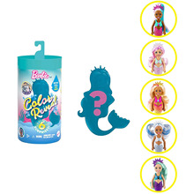 Barbie Color Reveal Assortment Chelsea Doll Mermaid Series Surprise Discoloration Blind Box Toys Girl Gift With 6 Surprises