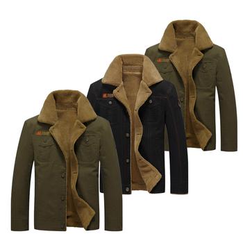 Kurtki wojskowe męskie kurtki pilotki armia męska Bomber polarowe kurtki jeansowe zimowy gruby płaszcz zimowy dla mężczyzn wiosna jesień bawełna tanie i dobre opinie JYVIN AUTUMN Winter WindStopper Pasuje prawda na wymiar weź swój normalny rozmiar