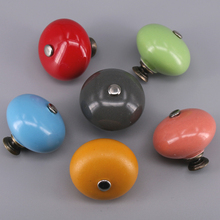 1x Round Ball Ceramic Handle Pull Knobs Cabinet Door Cupboard Drawer Locker Vintage Retro Closet multi colors