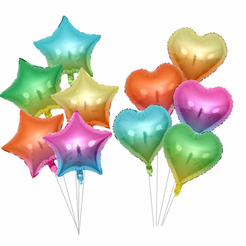 10pcs 18 Inch Star Heart Large Foil Helium Balloons Wedding Party Decoration