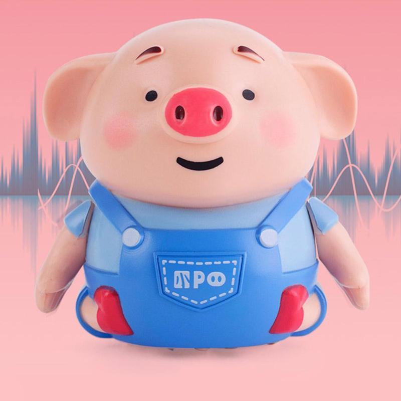 Inductive Pig Pen Draw Line Heel Robot Light Music Animal Education Kid Toy Christmas Gift For Children