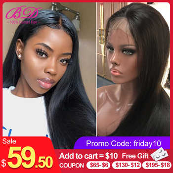 BD Hair 13X6 Silky Straight Lace Front Human Hair Wigs Brazilian Remy Hair Lace Wig for Black Women with Baby Hair Short Bob Wig - Category 🛒 Hair Extensions & Wigs