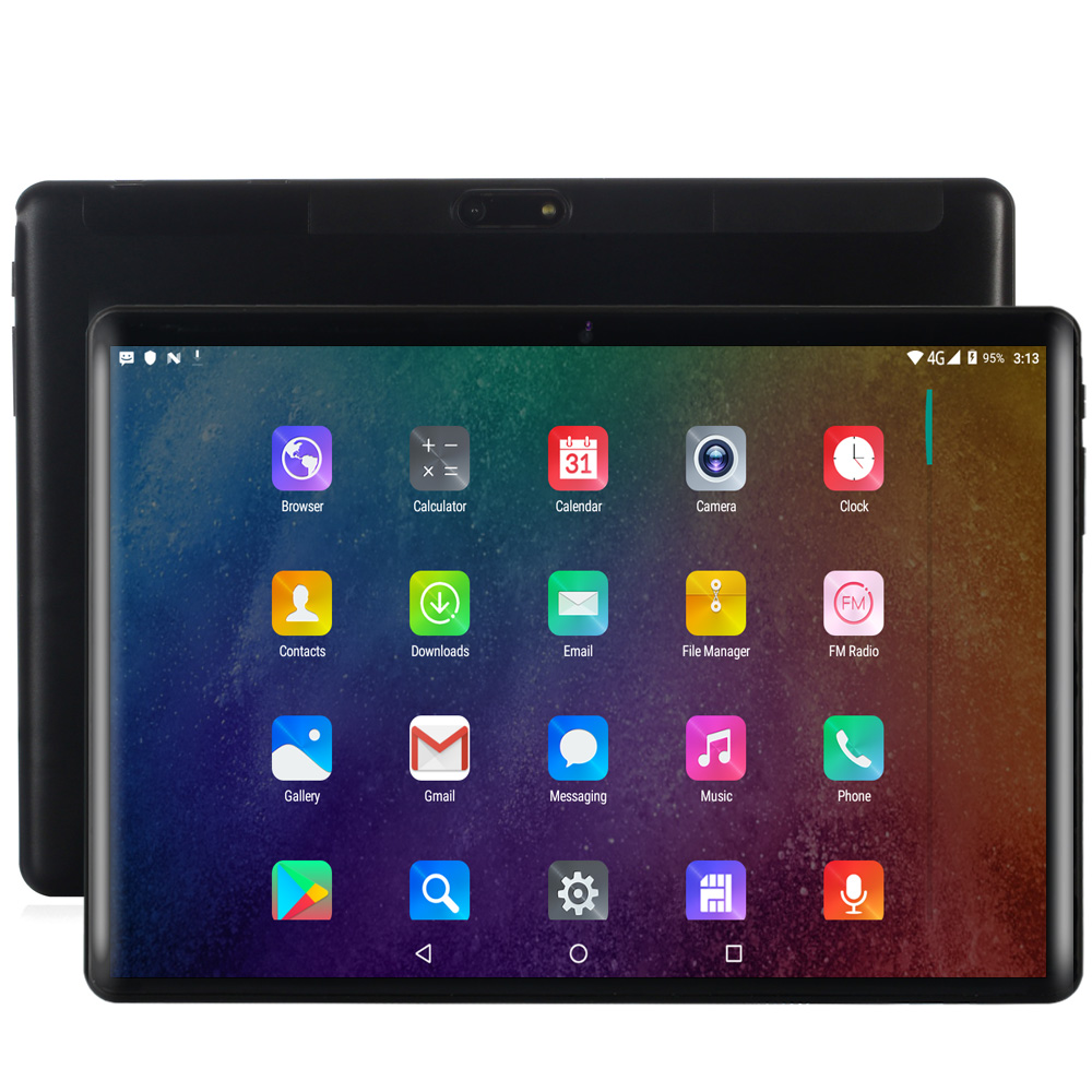 BDF 2019 New 10 Inch Tablet Pc 10/Deca Core 8GB RAM 128GB ROM Android 9.0 Dual SIM Cards 3G/4G LTE WiFi Bluetooth Pc Tablet 10.1