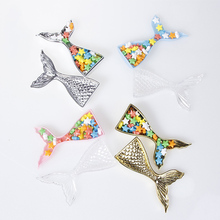 12 Pcs Plastic Mermaid Decoration DIY Decoration Candy Box Round Chocolate Candy Boxes Wedding Birthday Party Supplies