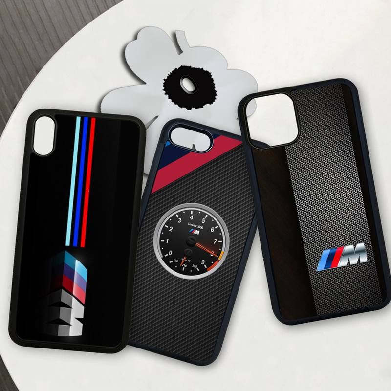 Hot Car BMW M Logo VIP TPU PC phone cover case for iphone se 2020 6 6s 7 8 plus x xs max xr 11 12 pro max coque image