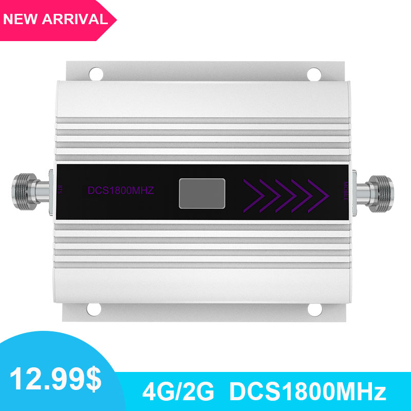 <font><b>2G</b></font> 4G Signal Booster <font><b>Repeater</b></font> DCS LTE 1800 Mobile Phone Band 3 Cell Phone Cellular Amplifier Communication <font><b>Repeater</b></font> LCD Display- image