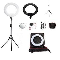 Yidoblo Black FS-480II 2 Colors adjust Camera Photo/Studio/Phone/Video 1848W 480 LED Ring Light LED Lamp+ 2M tripod +Soft bag