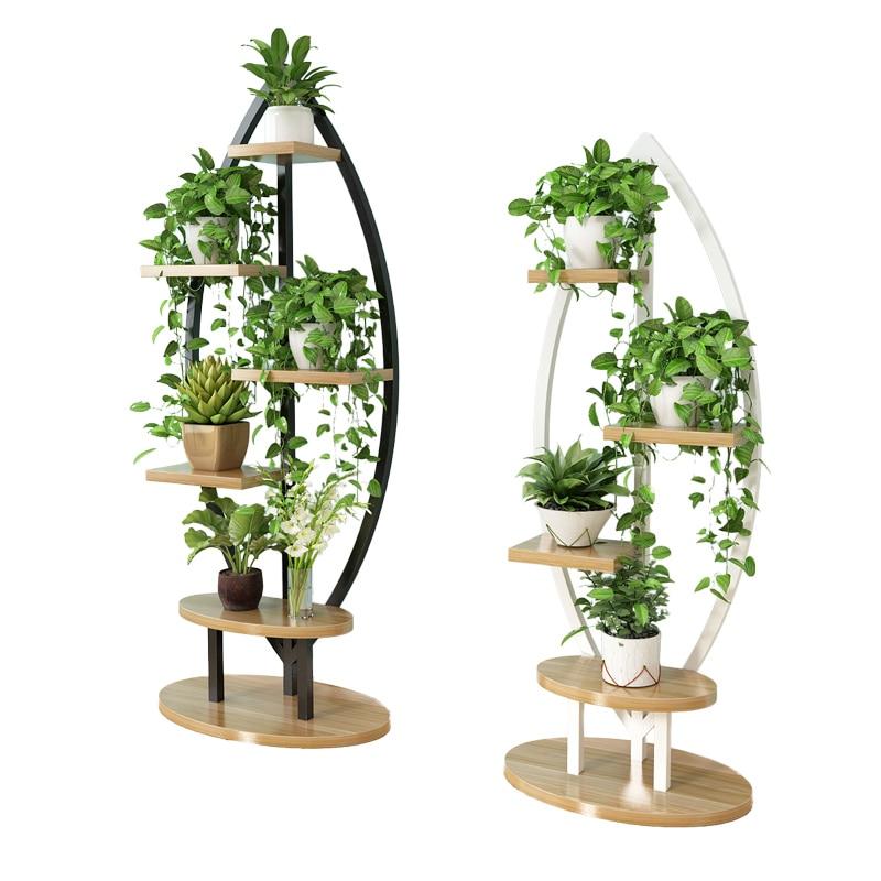 Living Room Home Flower Shelf Multi-storey Indoor Special Racks Space Indoor Balcony Decoration Green Stalks