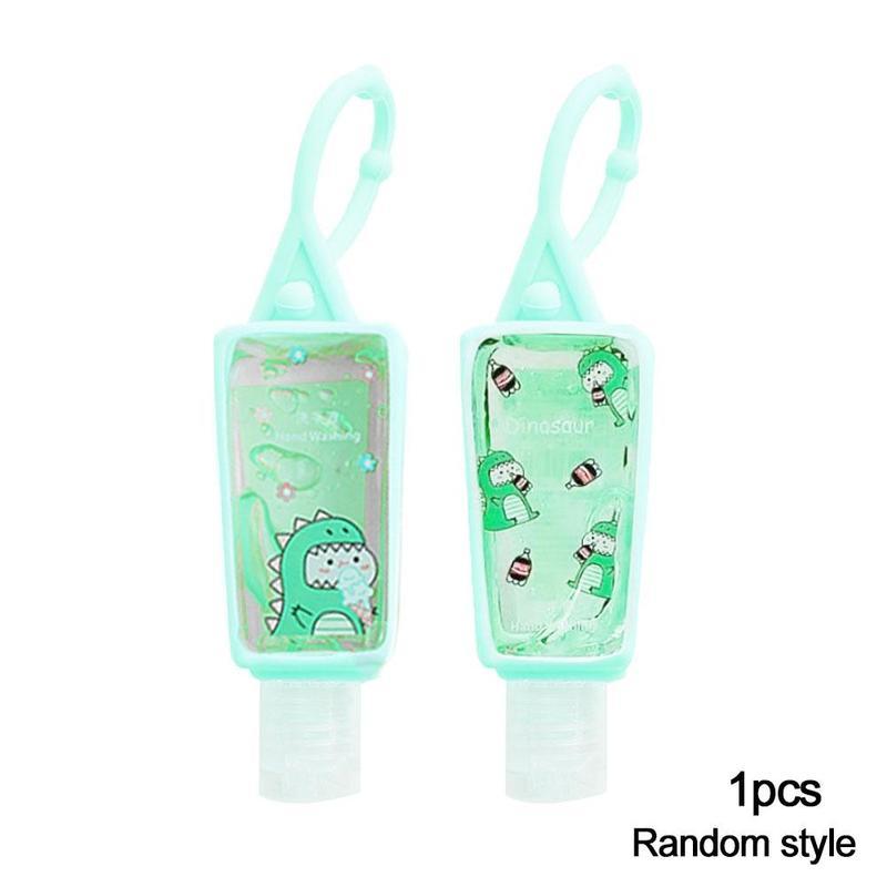 30ML Reusable Mini Cute Cartoon Hand Sanitizer Fruit Scented No Clean Travel Portable Clean Moisturizing Safe Gel Random Color