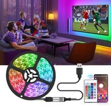 5V bande LED USB avec Bluetooth APP contrôle 5050 SMD RGB néon bande TV rétro-éclairage lumières de noël pour chambre vacances fête décor