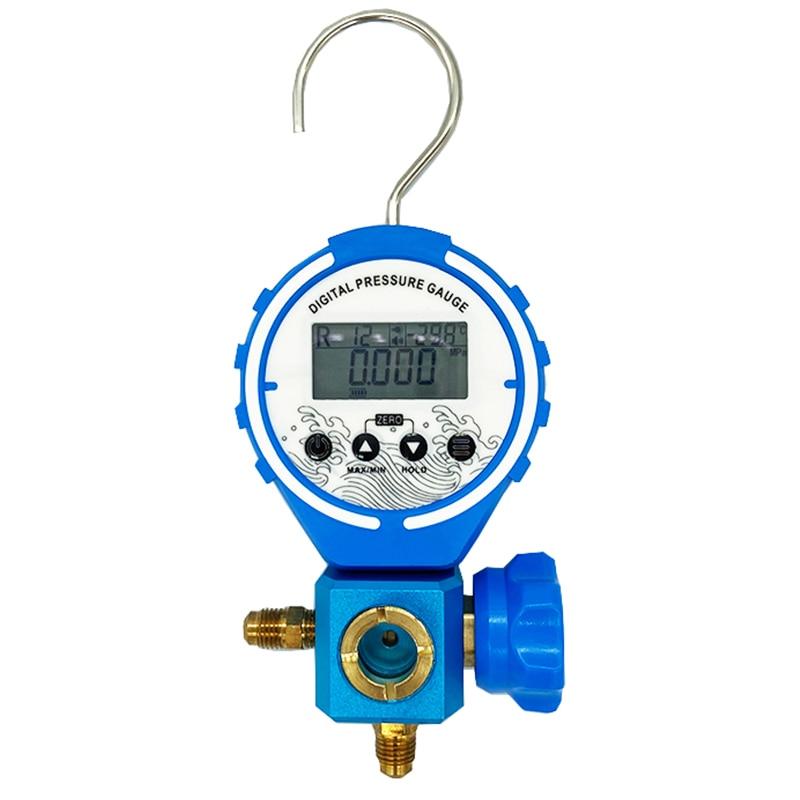 Digital  Manifold Pressure Gauge Refrigeration  Tester Vacuum Pressure Meter HVAC Tester Freon Pressure With sight glass