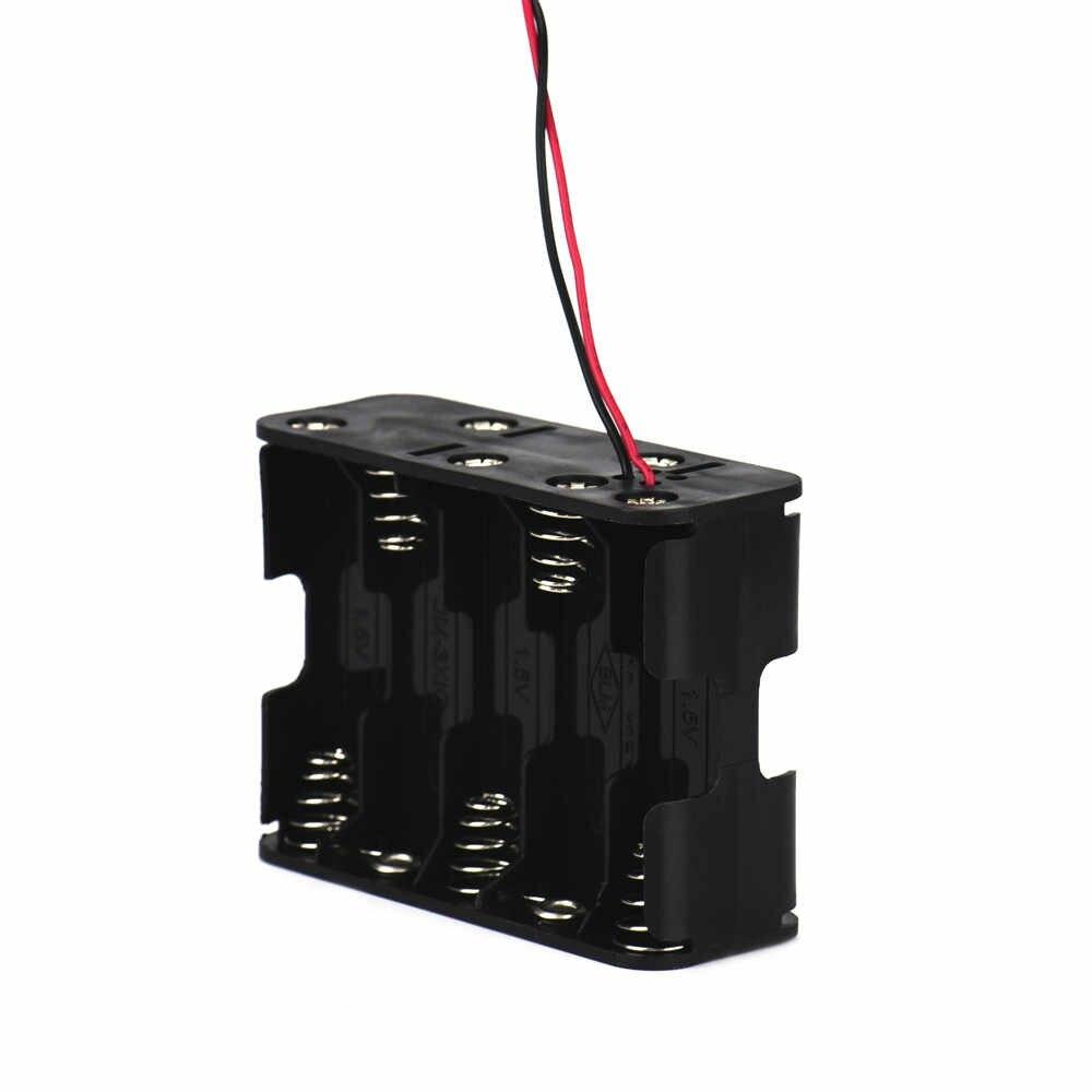 10 AA 2A Batterie 15V clip de fixation Boîtier De Stockage avec Fils Noir 18650 boîte bricolage chargeur portatif batterie boîte de support circuit