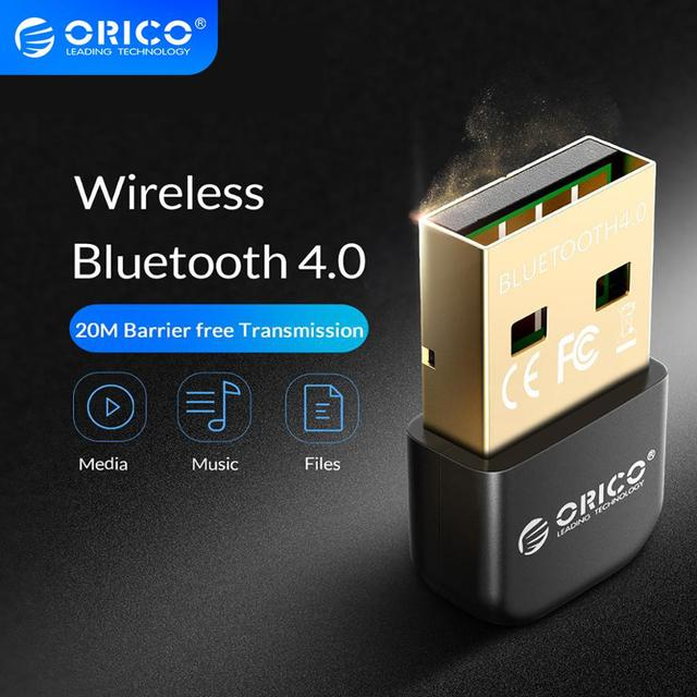 ORICO Mini adaptador Bluetooth USB 4,0, adaptador de antena inalámbrico de modo Dual, transmisor Bluetooth 4,0 para Windows S10 PC ordenador