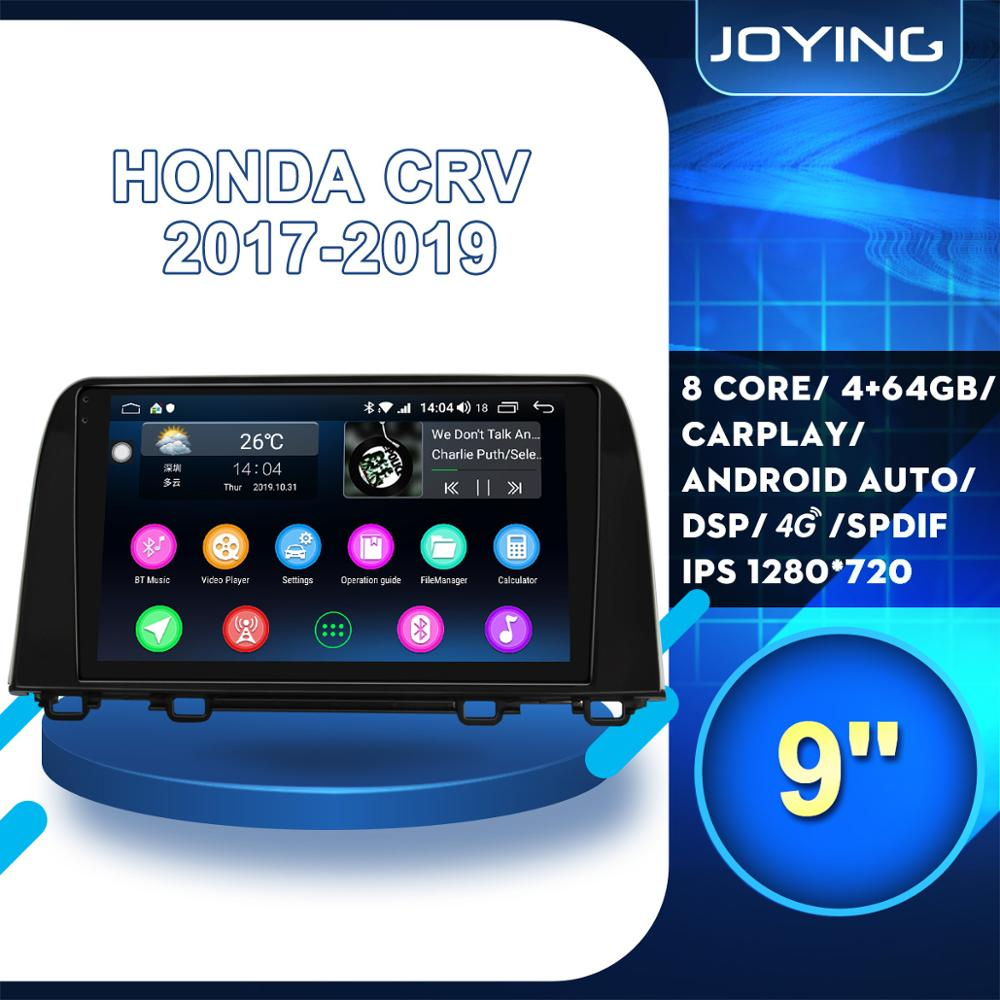 JOYING 9 2 Din Car Android Autoradio Stereo Head Unit Multimedia DVD Player Carpaly For Honda CRV CR-V 2017 2019 GPS 4G Wifi image