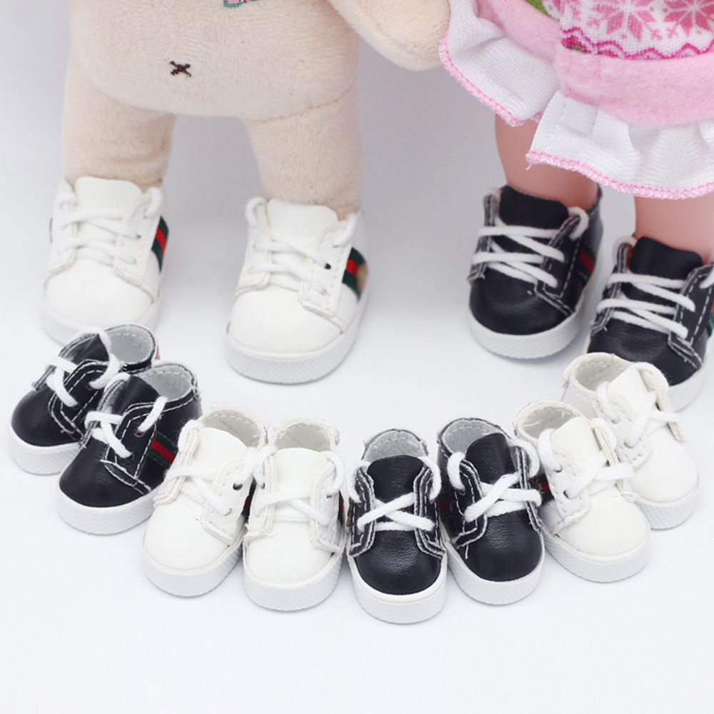New 5.5*2.8cm Cute Doll Strap PU Leather Shoes For 1/6 BJD Doll EXO Dolls Fit 14.5inch Girl Dolls Boots Clothing Accessories
