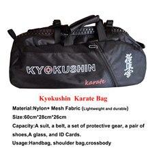 Novo karate kyokushin saco para treinamento kyokushinkai karate esporte saco leve bolsa multifuncional mochilas à prova dlightweight água