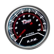 Универсальный Автомобильный Тахометр, ЖК-тахометр, счетчик часов 0-10000 об/мин 52 мм, белый